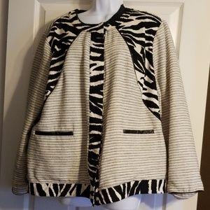 Zebra Trim Jacket